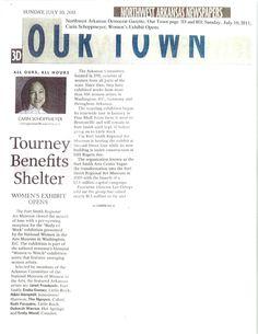 Women's Exhibit Opens, page 1 -Northwest Democrat Gazette, 7/10/2011