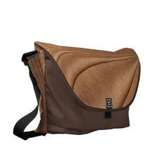 Copper Contour Messenger Bag by kahmier