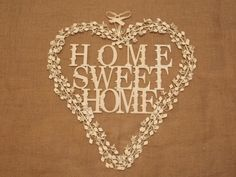 Large Cream Metal Home Sweet Home Heart Wreath, Heart Wreath, Metal Homes, Inspired Homes, Home Decor Items, Wall Signs, Vintage Inspired, Sweet Home, Wreaths, Cream