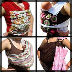 Baby Sling Sewing Pattern Combo - INSTANT Download - 8 patterns: Mei Tai, Ring Sling, Native Pouch, Wrap Around