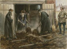 Vladimirov Art, Forced labor of Russian clergy (1919).