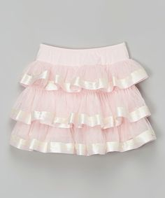 Love this Pink Tiered Skirt - Girls on #zulily! #zulilyfinds