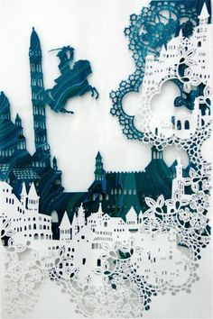 To know more about Emma van Leest papercut art, visit Sumally, a social network that gathers together all the wanted things in the world! Featuring over 9 other Emma van Leest items too! Kirigami, Paper Cutting, Cut Paper, Papercut Art, Arte Peculiar, Papier Diy, Creation Art, Paper Magic, Paper Artwork