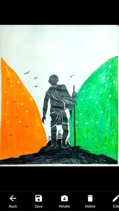 2nd October Gandhi jayanti 2 October Gandhi Jayanti, National Festival, October 2, Mahatma Gandhi, Birds, Poster, Painting, Art, Art Background