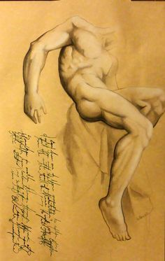 Edgar Degasstudy Of A Male Nude By Fine Masterpiece