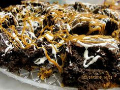 Slutty Brownies...Oreo-Cookie Dough-Brownies with White Chocolate and Caramel