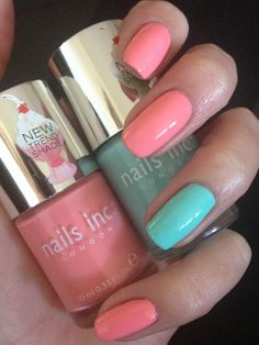 My goodness my #nails are just edible! Nails Inc SS13 collection 'Kensington Palace Gardens' and 'Royal Botanical Gardens' GORG!!!! X