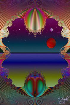 Fractal Art Digital Print Galactic Window by TerraTreasures