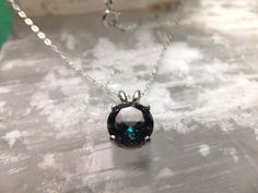 """8mm Round Mystic Topaz & Sterling Silver 18"""" Necklace on Etsy, $35.00"""