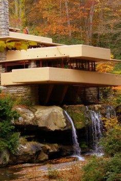 Fallingwater is a Frank Lloyd Wright house in Mill Run, Pennsylvania.