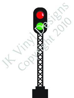 Railroad Train Crossing Sign stop and govinyl by jkvinyldesigns, $17.99