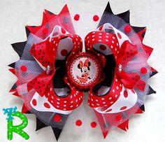Moño para niñas de disney minnie mouse por RoshelysBowtique