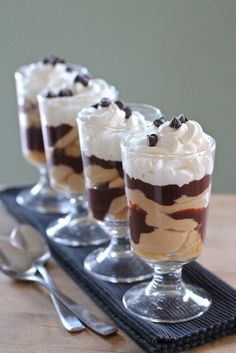 Peanut Butter and Chocolate Parfaits