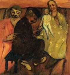Marc Chagall - Circumcision, 1909