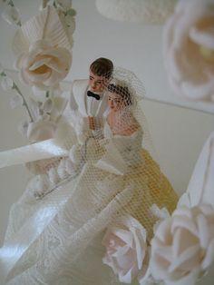 Vintage Wedding Cake Topper Collectible by paprikarose