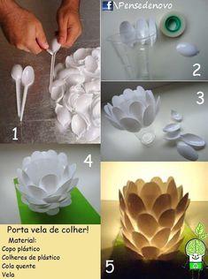 Rosely Pignataro: Joaninhas e outras decorações feitas com colheres de plástico.