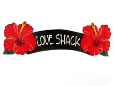 Product Details: The Love Shack Red Hibiscus Sign is made from eco-friendly Albesia wood, and measures 20 inches wide by 6 inches tall. They are hand carved and hand painted, to make each sign unique,