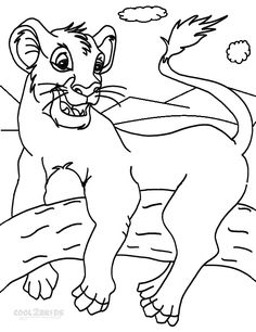 Printable Simba Coloring Pages For Kids | Cool2bKids