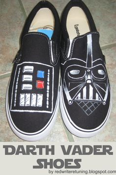 DIY Christmas Gifts  Darth Vader Shoes Disney Painted Shoes 4ac3d73f6