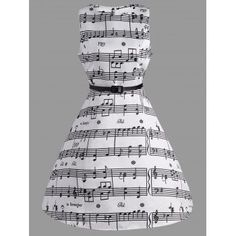 Free shipping 2018 Music Note Print Swing Party Dress WHITE M under $18.85 in Vintage Dresses online store. Best Pearl Dress and Chiffon Party Dress for sale at Dresslily.com.