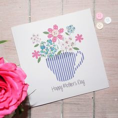 Teacup Posy Mother's Day Card £1.95