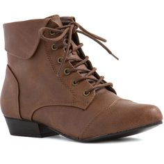 Vintage Lace-Up Ankle Boots found on Polyvore