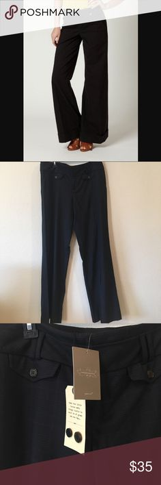 NWT Anthropologie Cartonnier Plaid Pants Brand new with tags! Women's Sz 12 Dark Blue plaid pants! Waist is 18 inches lying flat, inseam is 32 inches. Perfect to mix up the black work pants in your wardrobe! ✨ Please see pictures and ask any questions. No trades. Offers always welcome! Anthropologie Pants Trousers