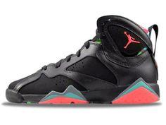 info for f2010 28666 Air Jordan 7 Marvin Black Grey Blue Red Men Shoes,Price  50