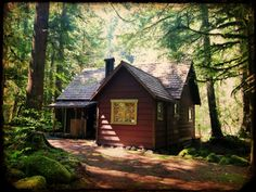 """cabinporn: """" Cabin on Mt. Hood near Zig Zag, Oregon. Contributed by Justin Chappelle. """""""