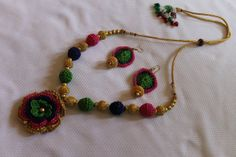 Brilliant Colors Crocheted Flower Necklace with by CHRYHAstyle, $50.00