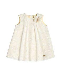 e03af26d Pili Carrera Sleeveless Poplin Eyelet Swing Dress, White (Size 2) #Carrera