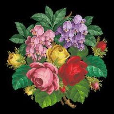 Roses and Begonia Flowers