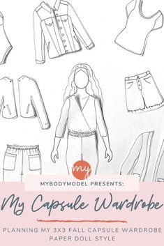Wardrobe Planner, Fashion Figure Templates, Croquis Fashion, Fall Capsule Wardrobe, Fashion Figures, How To Make Clothes, Pattern Drafting, Knitting Projects, Paper Dolls