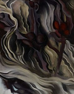 """Georgia O'Keeffe, whose oil painting """"Seaweed"""" is part of """"Modern Times"""" at Stanford's Cantor Arts Center, yearned to be known as an American painter, not a female artist. Photo: Cantor Arts Center / ONLINE_YES Georgia O'keeffe, Georgia O Keeffe Paintings, Wisconsin, New York Art, Old Glory, Art Institute Of Chicago, Art Reproductions, American Artists, Oil On Canvas"""