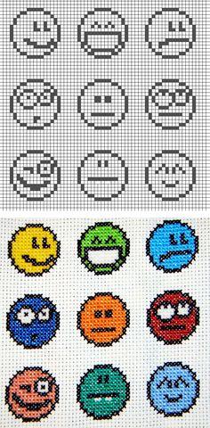 Cross stitch_emoticon | Welcome Craft