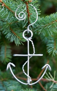 Handcrafted Wire Anchor 3-Pc. Ornament Set
