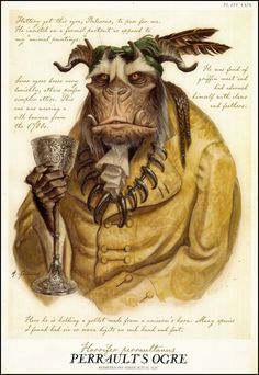 """Tony DiTerlizzi, """"Perrault's Ogre"""" from Arthur Spiderwick's Field Guide to the Fantastical World Around You via Mythical Creatures Art, Mythological Creatures, Magical Creatures, Spiderwick, Arte Sailor Moon, Arte Obscura, Field Guide, Creature Design, Fantastic Beasts"""