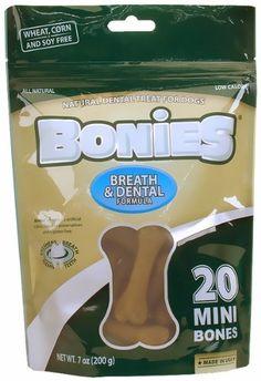 BONIES Natural Dental Bones Multi-Pack MINI (20 Bones / 7 oz) - http://www.thepuppy.org/bonies-natural-dental-bones-multi-pack-mini-20-bones-7-oz/