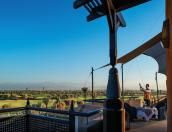 The terrace of a Presidential Suite - Royal Palm Marrakech Marrakech Hotels, Morocco Hotel, Wind Turbine, Terrace, Palm, Balcony, Porch, Patio, Hand Prints