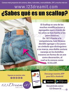 Los jeans tienen detalles muy especiales de los cuales desconocemos su historia, da click en la imagen y conoce que es el Scallop en los bolsillos de tus pantalones. No olvides descargar nuestra APP para conocer más información como esta.