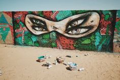 David Choe public art in the Saharan Desert with the Igloo Hong project, Morocco