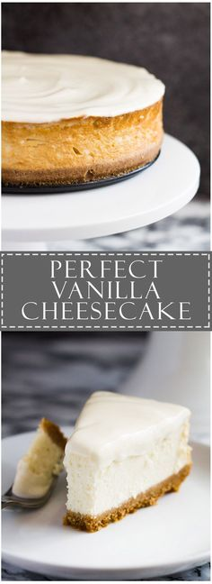 Perfect Vanilla Cheesecake | Marsha's Baking Addiction