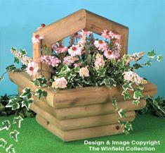 Basket Planter #2 Wood Pattern