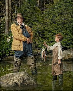 Look at the size of the brook trout on the kids stringer, nice. LL Bean Cover Recreation // Randal Ford Fishing Life, Gone Fishing, Best Fishing, Fishing Boats, Fishing Uk, Fishing Reels, Trout Fishing Tips, Randal, Catalog Cover