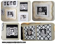 Step it Up Frame Gallery - Save hundreds with our DIY shaped frames.  We've created the layout of the frame gallery for you, now you just have to paint the frames.