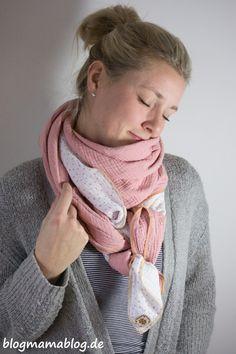 Das Quick&Easy-Halstuch aus Musselin - Anleitung - Blogmamablog