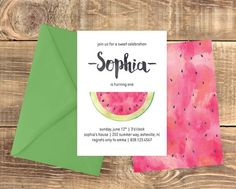 Watermelon Birthday Printable Invitation by kNsDesignDIY: