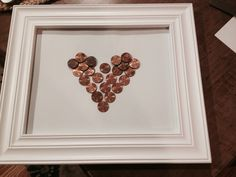 Copper Anniversary. Made this for my husband for our 22nd wedding anniversary. Each penny is from each of the 22 years of our marriage. Very lucky pennies.