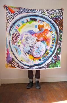 Art Scarf   Hui Hui print pattern