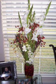 My Christmas floral arrangement